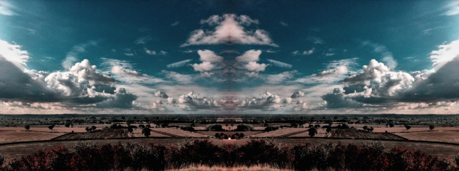 Clouds Make Patterns. View from Tatenhill. Image taken & edited on iPhone 4