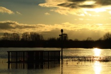 Sunset over Flooded washlands, Burton