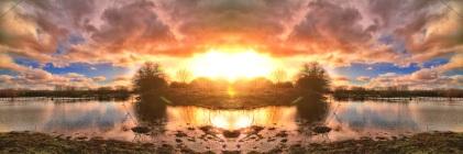 Harmonious Resonance - Sunset over Burton on Trent Wash Lands. 2012