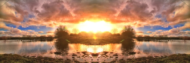 Harmonious Resonance - Sunset over Burton on Trent Wash Lands. 2012
